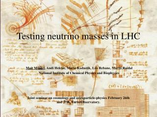 Testing neutrino masses in LHC