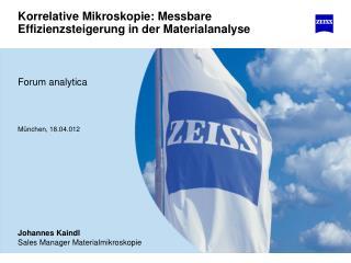Korrelative Mikroskopie: Messbare Effizienzsteigerung in der Materialanalyse