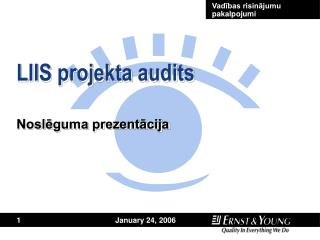 LIIS projekta audits