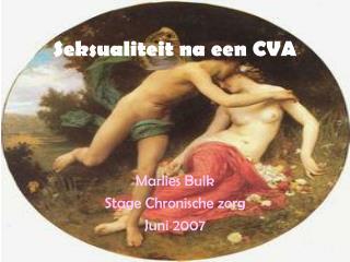 Seksualiteit na een CVA