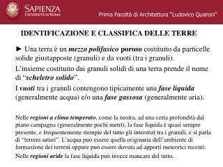 """Prima Facoltà di Architettura """"Ludovico Quaroni"""""""