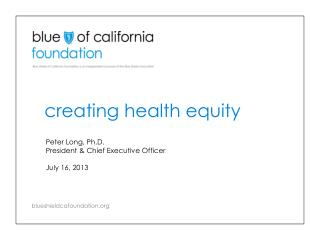 creating health equity