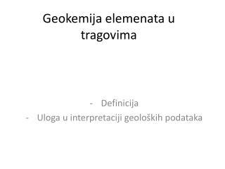 Geokemija elemenata u tragovima