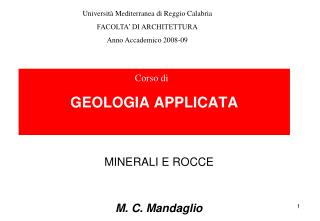GEOLOGIA APPLICATA