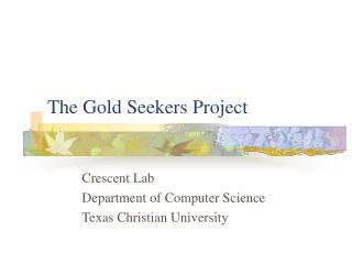 The Gold Seekers Project