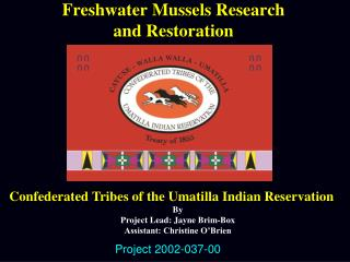 Freshwater Mussels Research  and Restoration