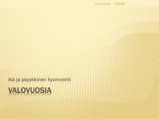 VALOVUOSIA