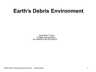 Earth's Debris Environment