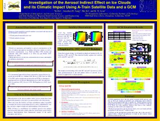 Investigation of the Aerosol Indirect Effect on Ice Clouds