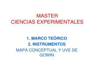 MASTER CIENCIAS EXPERIMENTALES