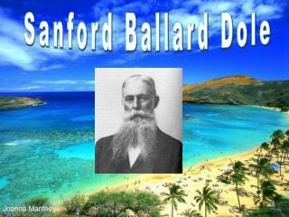Sanford Ballard Dole