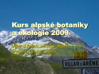 Kurs alpské botaniky a ekologie 2009