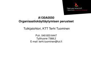 KONFLIKTIT JA NEUVOTTELUT To 10.4.2014