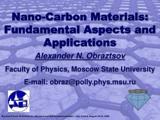 Nano-Carbon Materials: Fundamental Aspects and Applications