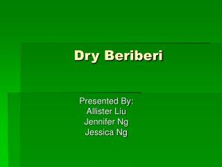 Dry Beriberi