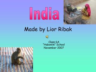 Made by Lior Ribak
