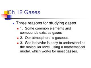 Ch 12 Gases
