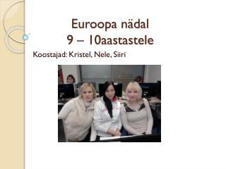 Euroopa nädal 9 – 10aastastele