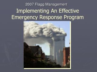 Implementing An Effective Emergency Response Program