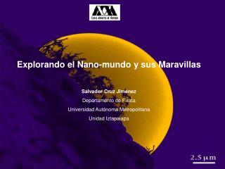 Explorando el Nano-mundo y sus Maravillas Salvador Cruz Jiménez Departamento de Física