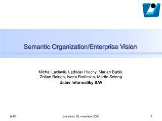 Semantic Organization/Enterprise Vision