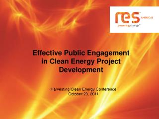 Effective Public Engagement in Clean Energy Project Development