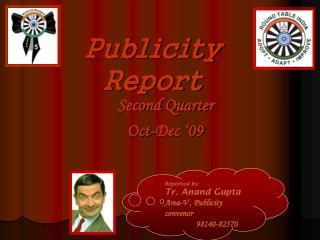 Publicity Report