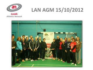LAN AGM 15/10/2012