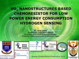 VO 2  NANOSTRUCTURES BASED CHEMORESISTOR FOR LOW POWER ENERGY CONSUMPTION HYDROGEN SENSING