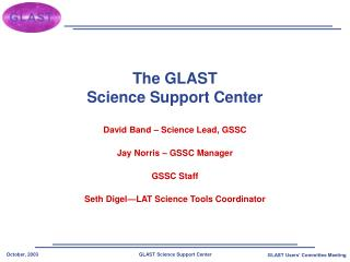 The GLAST Science Support Center