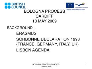 BOLOGNA PROCESS CARDIFF 18 MAY 2009