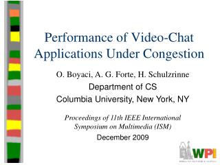 Performance of Video-Chat Applications Under Congestion