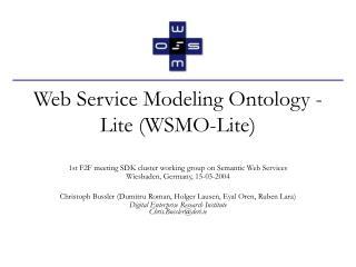 Web Service Modeling Ontology - Lite (WSMO-Lite)