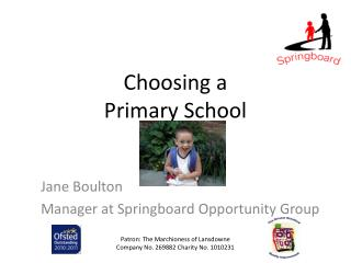 Choosing a  Primary School