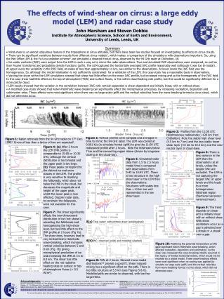 The effects of wind-shear on cirrus: a large eddy model (LEM) and radar case study