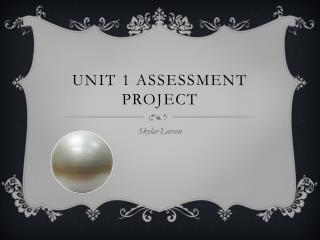 Unit 1 assessment project