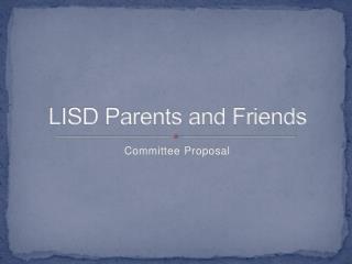 LISD Parents and Friends