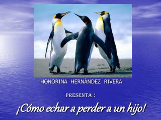 HONORINA  HERNÁNDEZ  RIVERA PRESENTA  : ¡Cómo echar a perder a un hijo!