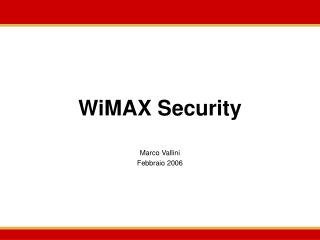 WiMAX Security