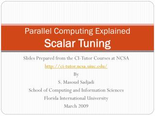 Parallel Computing Explained Scalar Tuning