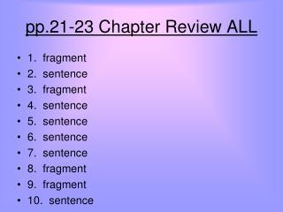 pp.21-23 Chapter Review ALL