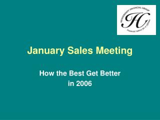 January Sales Meeting