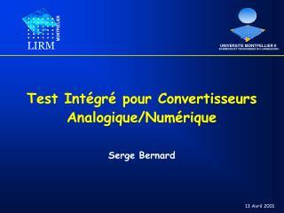Test Intégré pour Convertisseurs Analogique/Numérique