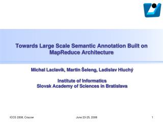 Towards Large Scale Semantic Annotation Built on  MapReduce  Architecture