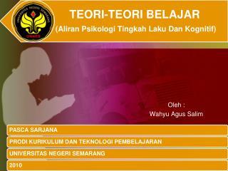 Oleh : Wahyu Agus Salim