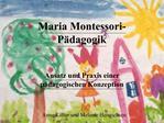 Maria Montessori-P dagogik