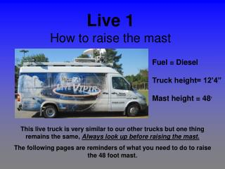 Live 1 How to raise the mast