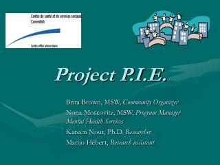 Project P.I.E.