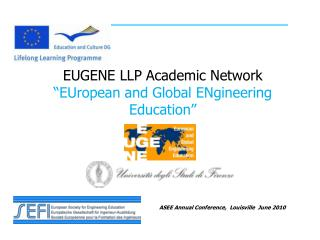 "EUGENE LLP Academic Network ""EUropean and Global ENgineering Education"""