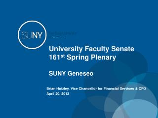 University Faculty Senate 161 st  Spring Plenary SUNY  Geneseo